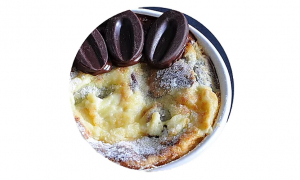 Clafoutis de Ravioles au Chocolats